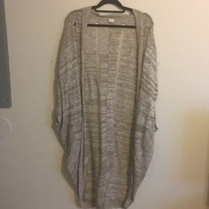 Sun and shadow long tan cardigan size large